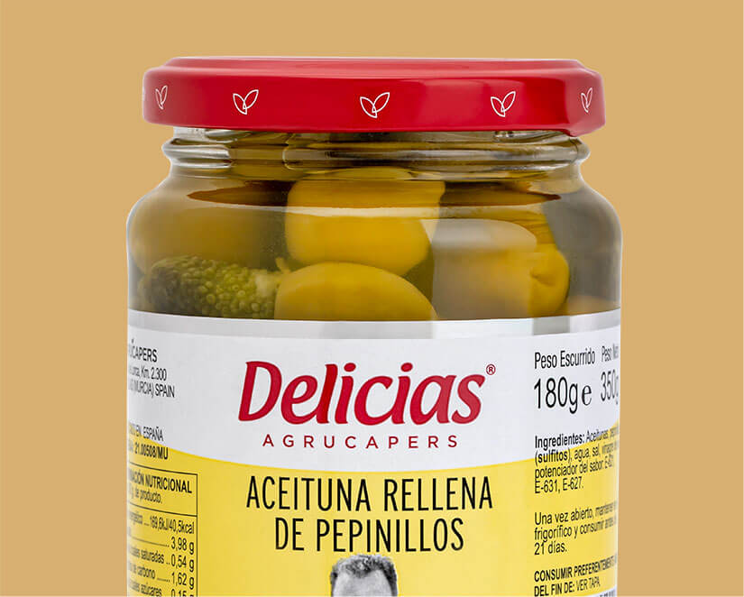 product aceitunas rellena pepinillos