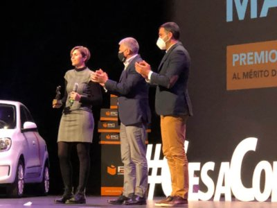 Entrega de premio en Murcia Sports Business